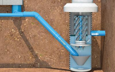 Sedimentationsschacht macht das Niederschlagswasser sauber