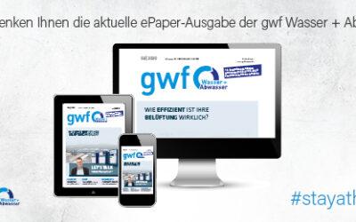 gwf Wasser|Abwasser: Sie bleiben zu Hause und wir kommen digital zu Ihnen