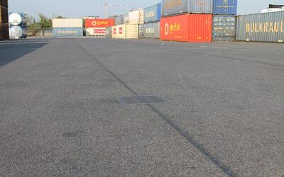 Große Entwässerungsleistung auf Container-Terminal in Mailand