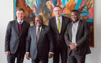President of Ghana visiting WILO SE