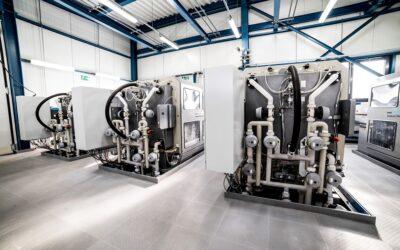 Filterautomaten behandeln Waschwasser