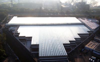 Solarthermische Klärschlammtrocknung: Weltweit größte Anlage entsteht