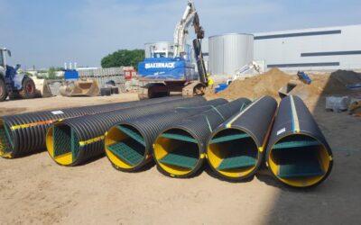 Entwässerungslösungen von FRÄNKISCHE im Logistikzentrum
