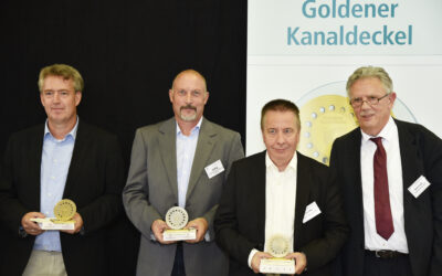 Goldene Kanaldeckel für besondere Leistungen zur Abwasserentsorgung