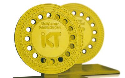 Goldener Kanaldeckel verliehen