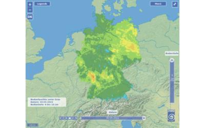 DWD ermöglicht Online-Überwachung der Bodenfeuchte